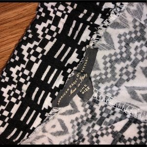 American Eagle Outfitters Skirts - Black and white slit skirt